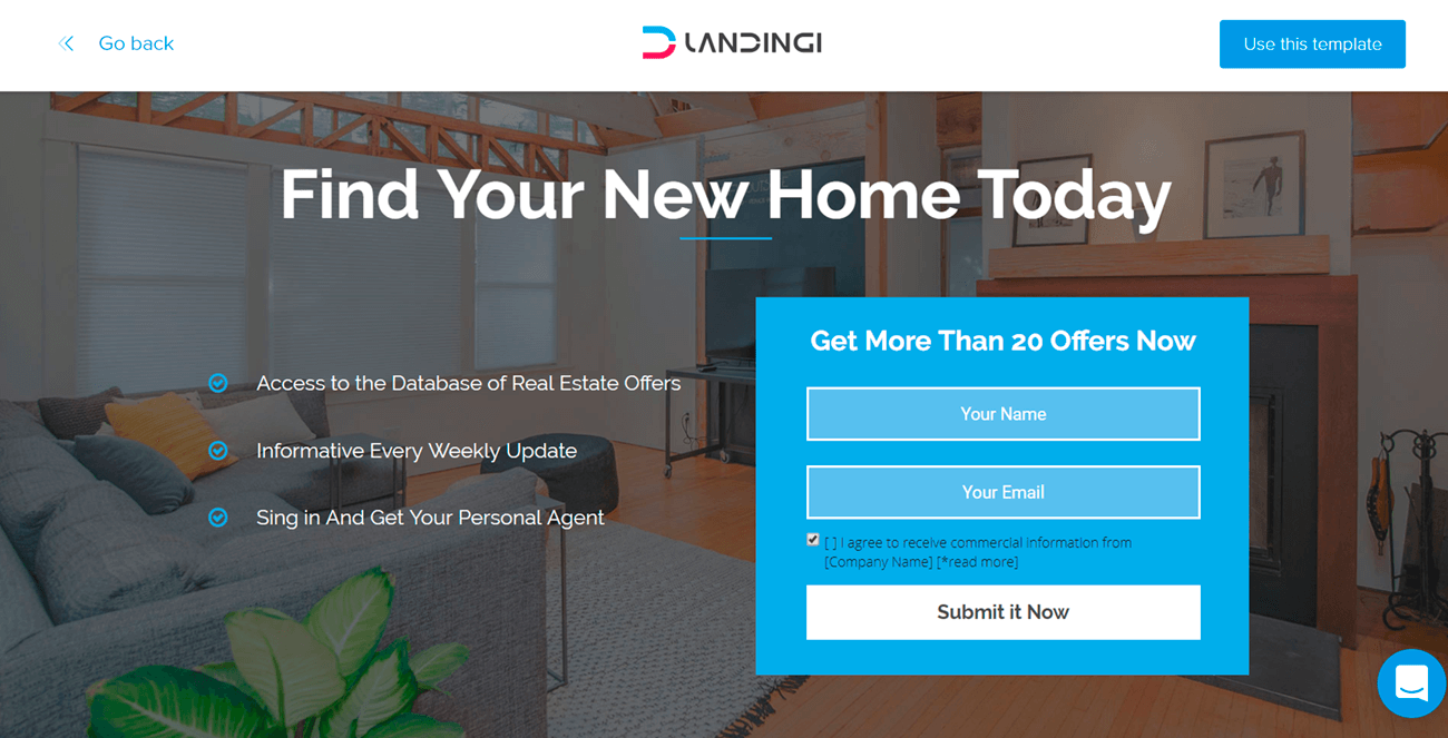landing page for real estate landingi template example