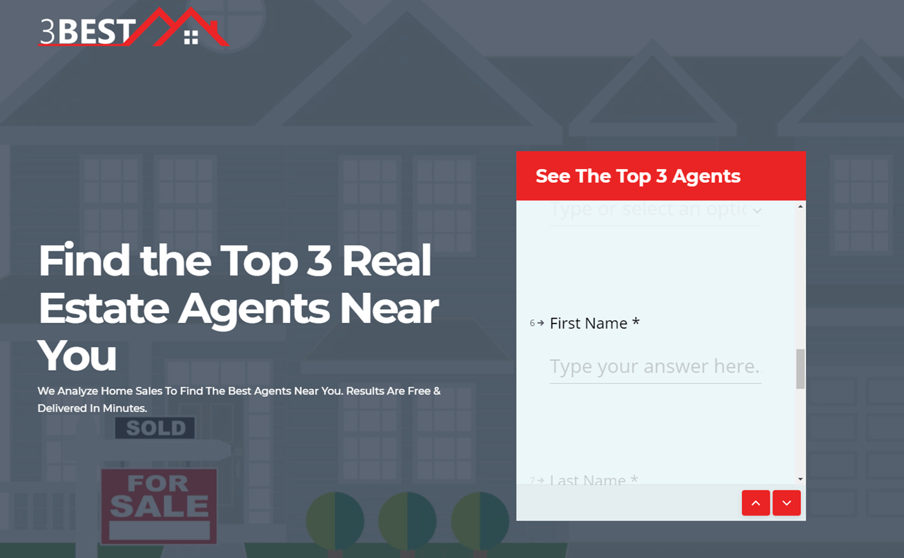 landing page for real estate 3 best