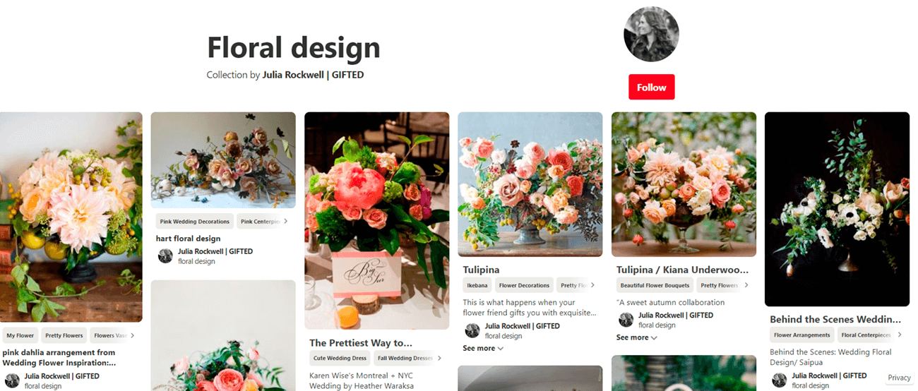 Marketing ideas for flower shops. Floral Pinterest.