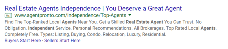 10-google-ads-for-real-estate-example-of-structured-snippet