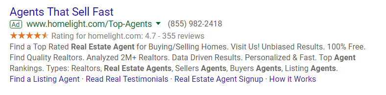 11-google-ads-for-real-estate-example-of-call-extension