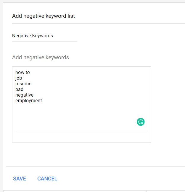 google-ads-para-inmobiliarias-crear-lista-de-palabras-negativas