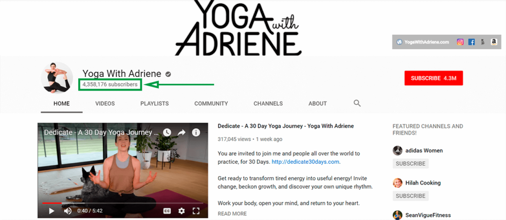 marketing para yoga yoga with adriene