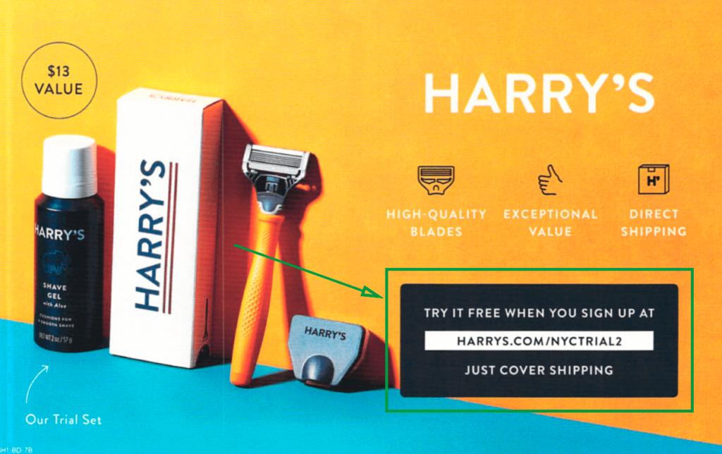 local magazine advertising Harry_s print ad