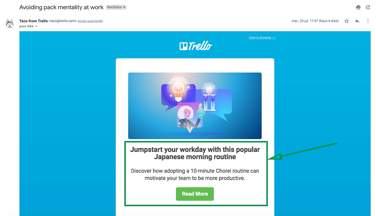 Cómo hacer un plan de marketing. Ejemplo de newsletter.