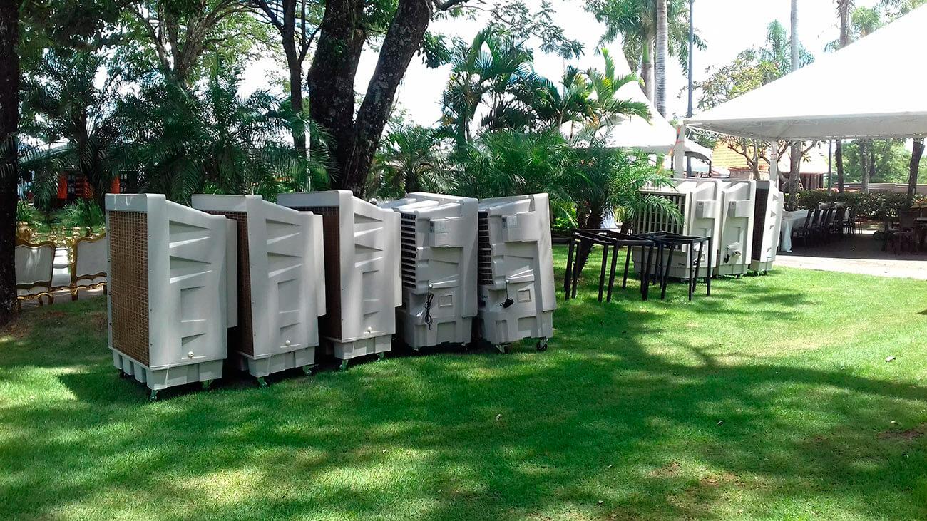 Plan de Digitalización Paraguay. LG Climatizadores en un evento