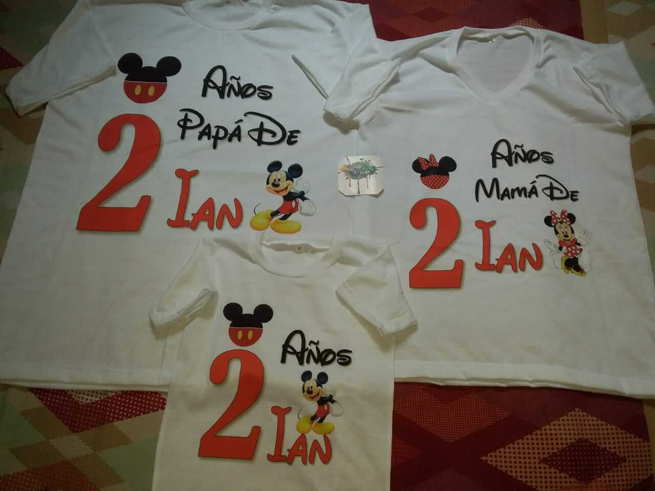 T-Shirt. Camisetas Disney para familias.