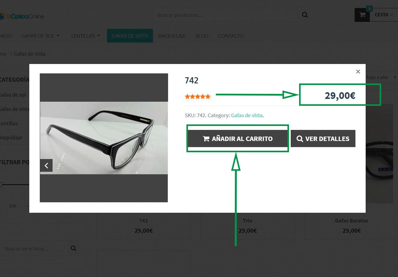 Estrategias de marketing para Ópticas. Anteojos con opción de compra en línea.