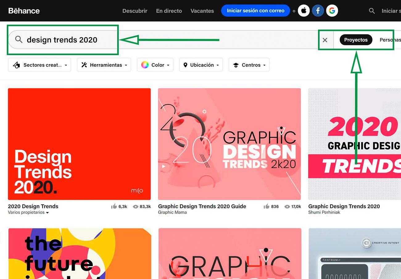 Estratégias de marketing para desenhadores gráficos. Behance page