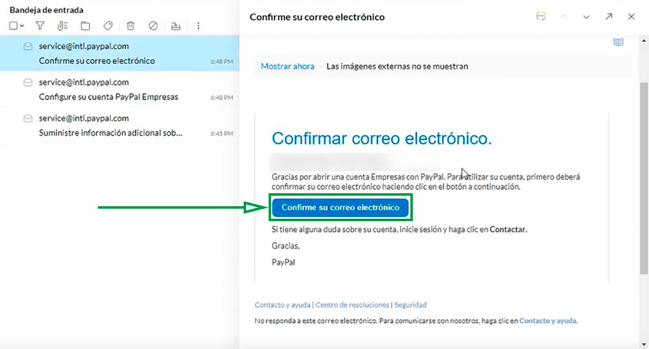 Cómo usar PayPal para recibir pagos como empresa. Confirmar correo de PayPal