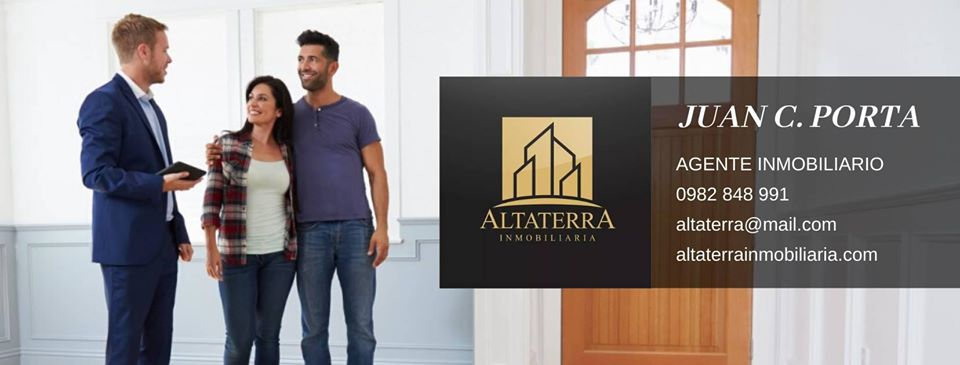 Altaterra Inmobiliaria. Tarjeta de presentación.