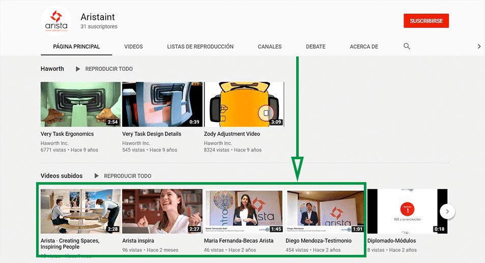 Estrategias de Marketing para diseño de interiores. Canal de YouTube de Arista.
