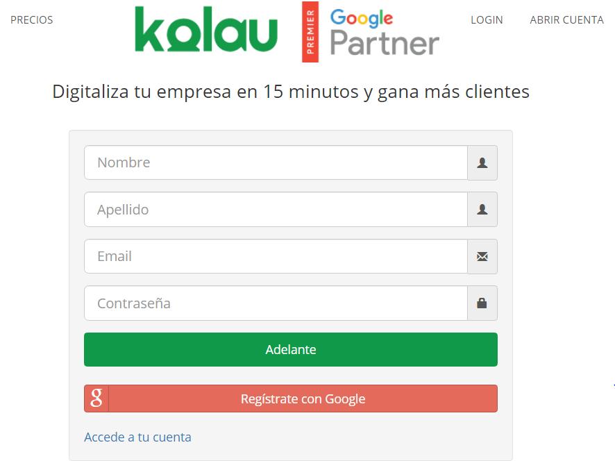 Marketing para librerías. Datos para crear cuenta con Kolau