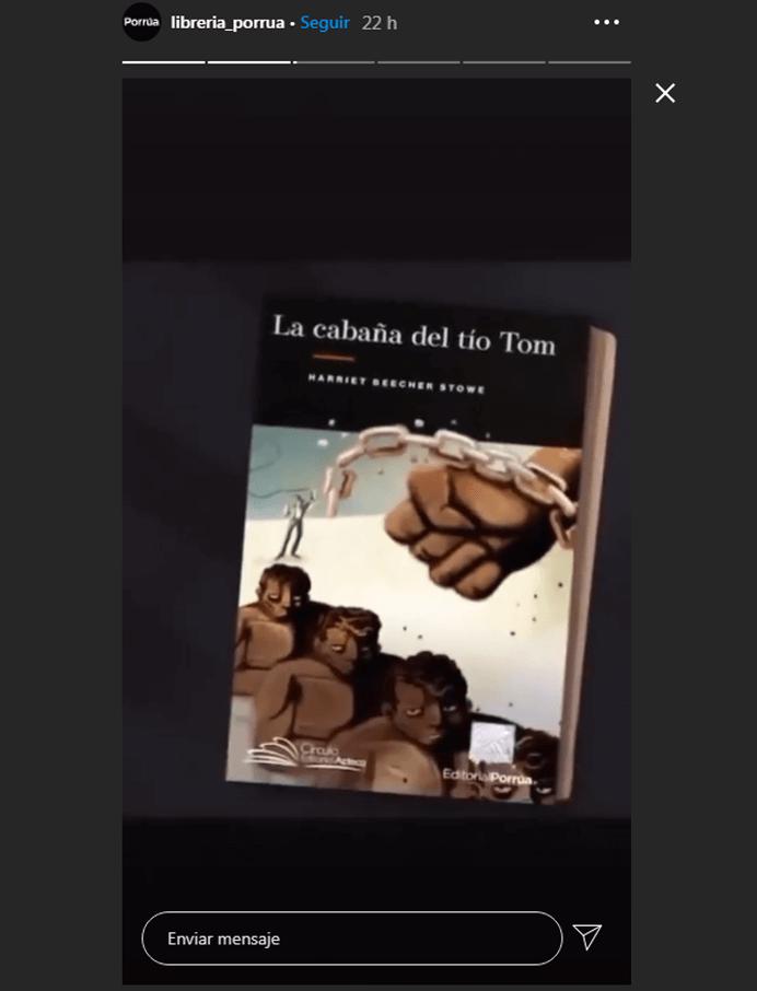Marketing para librerías. Ejemplo de historia en Instagram
