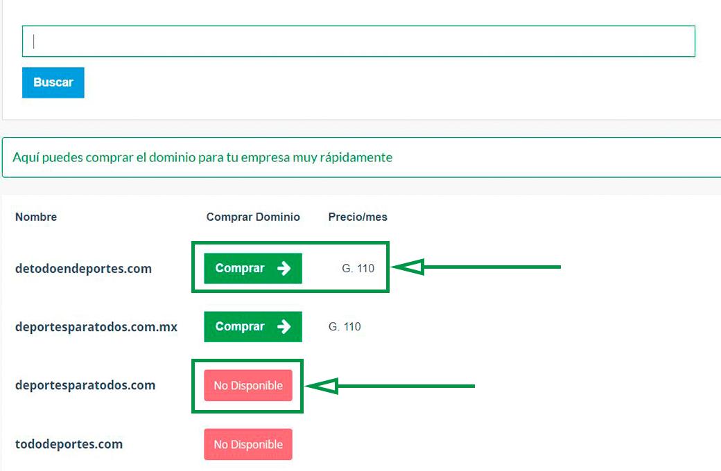 Cómo elegir un nombre de dominio para tu web. Elegir dominio disponible