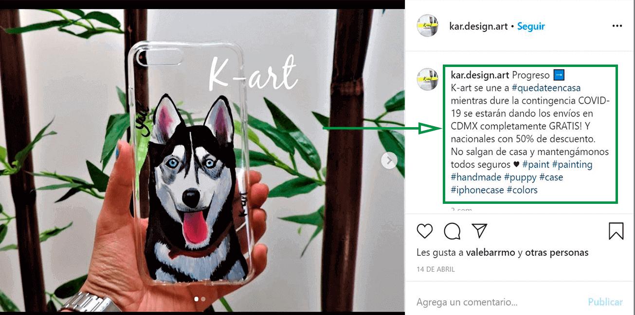 Cómo ganar seguidores en Instagram. Ejemplo de K-art