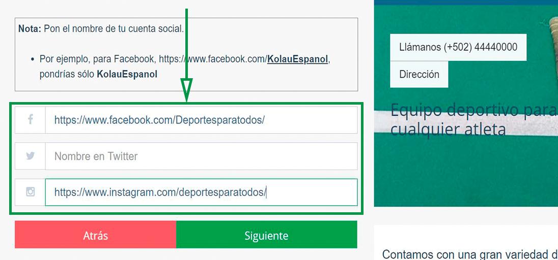 Cómo elegir un nombre de dominio para tu web. Agregar redes sociales