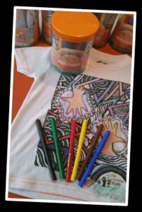 Arty Colorea Kids. Kit de camiseta